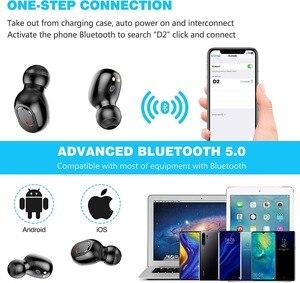 Image 2 - New D2 Wireless Headphones Bluetooth 5.0 Earphone TWS HIFI Mini In ear Sports Running Headset SupportPhones HD Call Game Noise