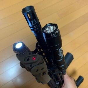 Image 5 - WADSN Airsoftพจนานุกรม 5 PEQ15 Red Dot IR Laser SightยุทธวิธีLA5C PEQ 15 อาวุธไฟฉาย 200 Lumenการล่าสัตว์armasสีขาวScout LIGHT