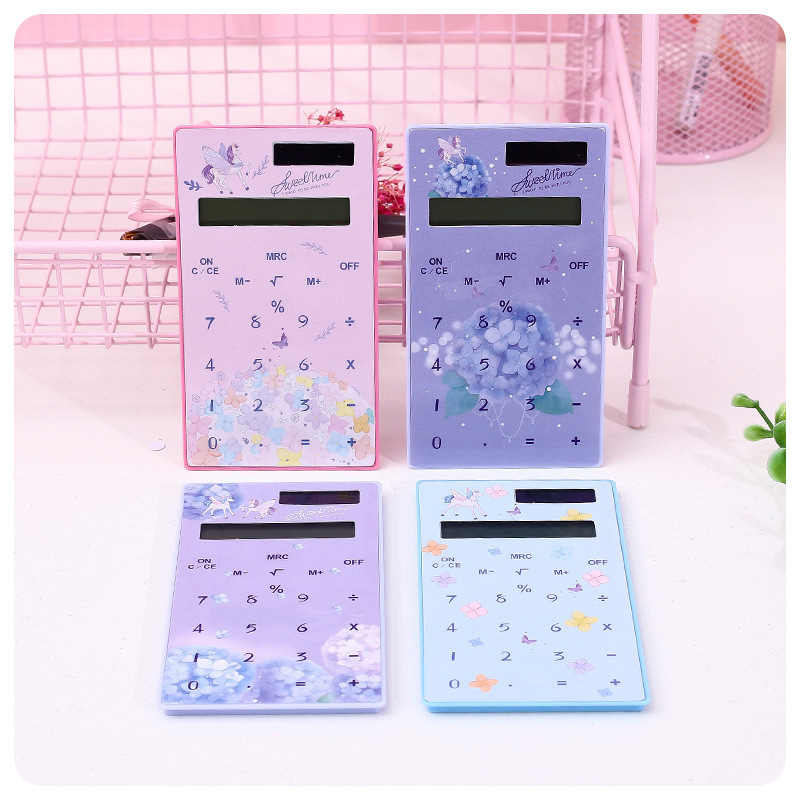 Creative Mini Solar Student Calculator Portable Calculator Business Calculator School Office Supplies
