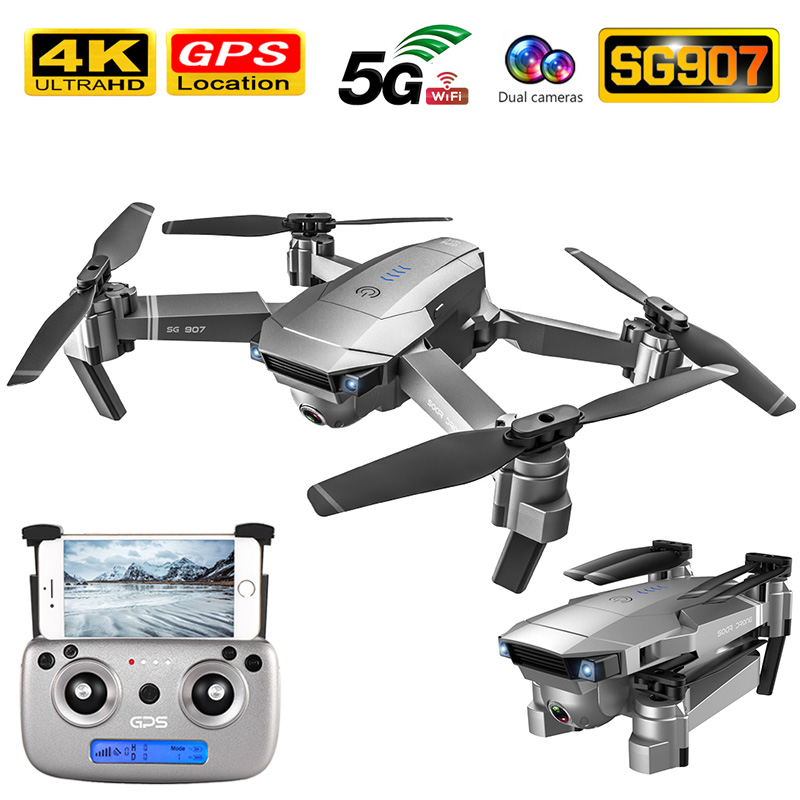 GPS FOLLOW ME WIFI FPV Quadcopter Foldable Drone 4K 1080P HD Camera Anti-shake 50 Times Zoom RC Helicopter Professional 4K Drone