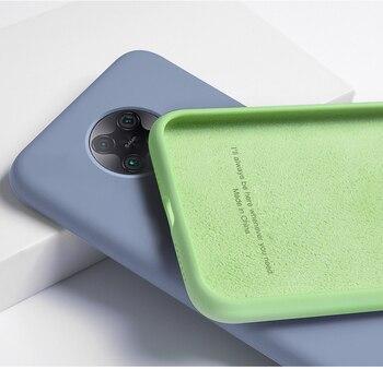 Перейти на Алиэкспресс и купить Приятный для кожи чехол для Xiaomi Poco F2 Pro, жидкие Силиконовые чехлы Mi Little F2 Pro, тонкий мягкий чехол из микрофибры ТПУ для Mi Poco F2 Pro