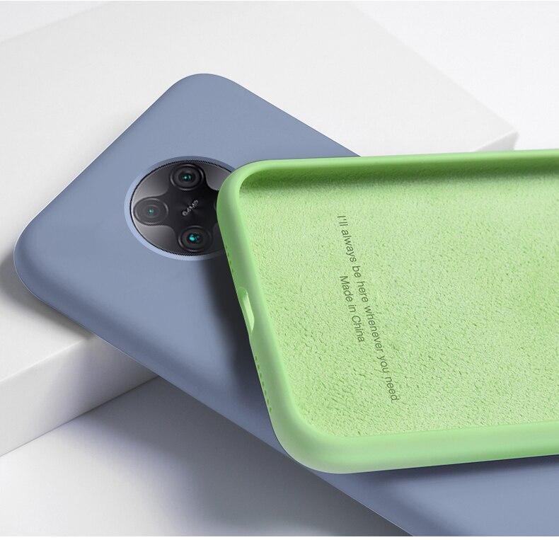 Skin-Friendly Case For Xiaomi Poco F2 Pro Liquid Silicone Cases Mi Little F2 Pro Slim Soft TPU Microfiber Cover Mi Poco F2 Pro