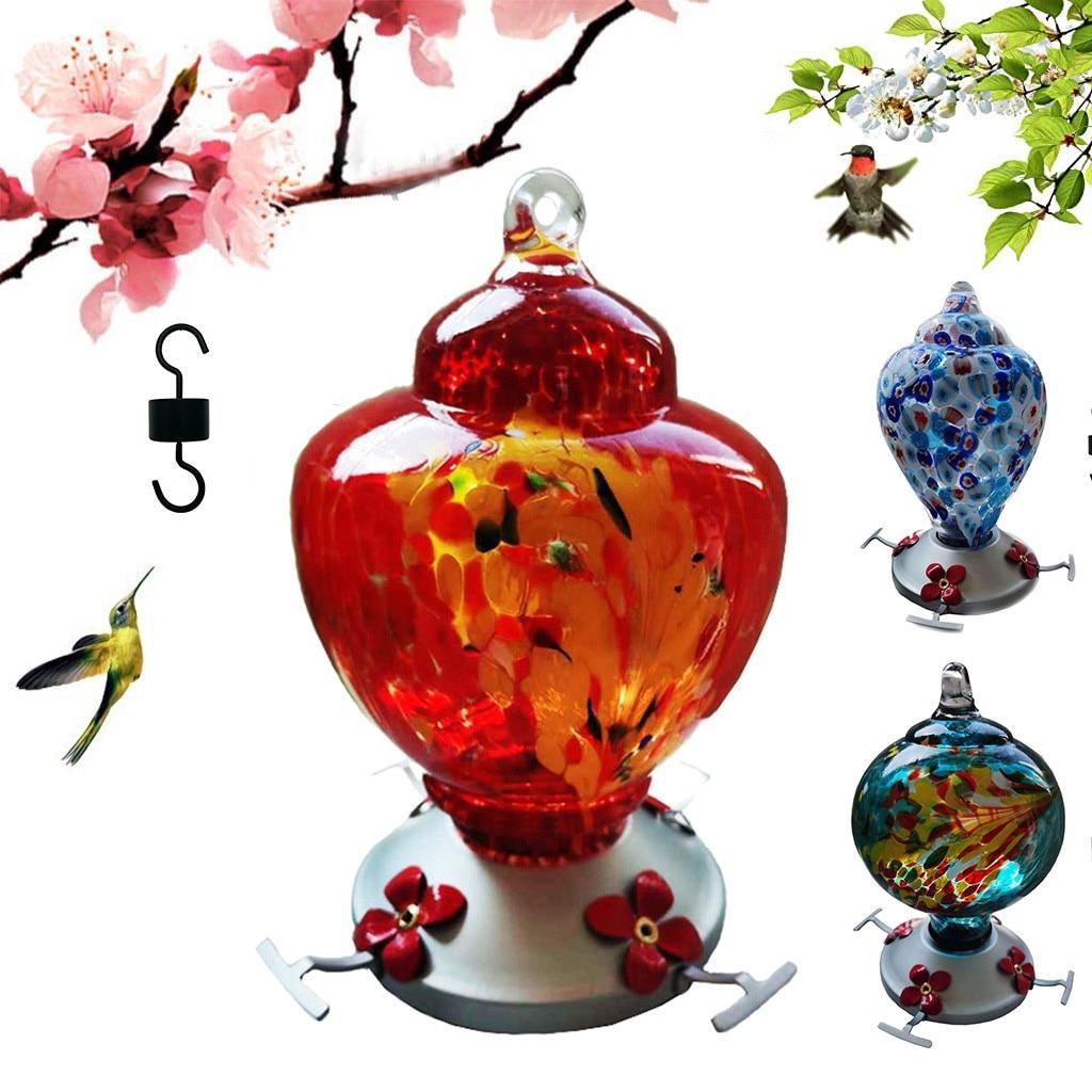 Hummingbird alimentador de alimentos, alimentador de pátio sem pescoço para decoração de jardim e quintal #0525g30