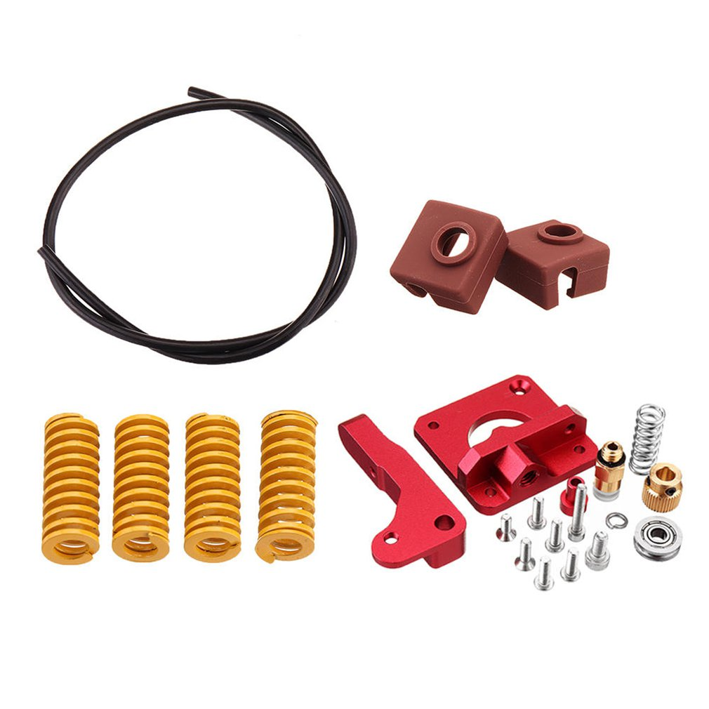 Long-Distance Remote Metal Extruder+Leveling Spring+PETG Tube+MK10 Silicone Case Kit For Creality CR-10 Ender-3 Printer