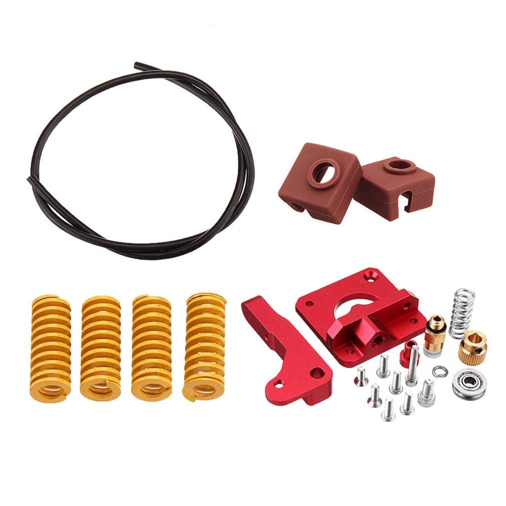Long-Distance Remote Metal Extruder+Leveling Spring+PETG Tube+MK10 Silicone Case Kit For Creality CR-10 Ender-3 Printer