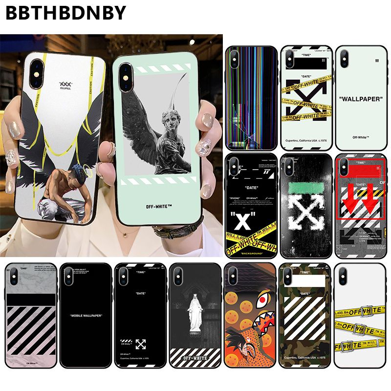 Off And White Coque For Iphone Xr Pattern Tpu Soft Phone Etui For Iphone 11 Pro Xs Max 8 7 6 6s Plus X 5 5s Se Xr Case Buy At