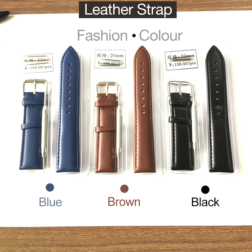 HAIQIN Watches Watch Bands Leather Strap Genuine Leather Watch Strap 20m 24mm Leather 22mm Suitable For Men Watch Women Watches