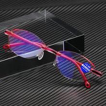 Elbru Anti Blue Ray Lesebrille Dame Frauen Diamant Schneiden Hyperopie Brille Brillen + 0 + 1,0 + 1,5 + 2,0 + 2,5 + 3,0 + 3,5 + 4,0