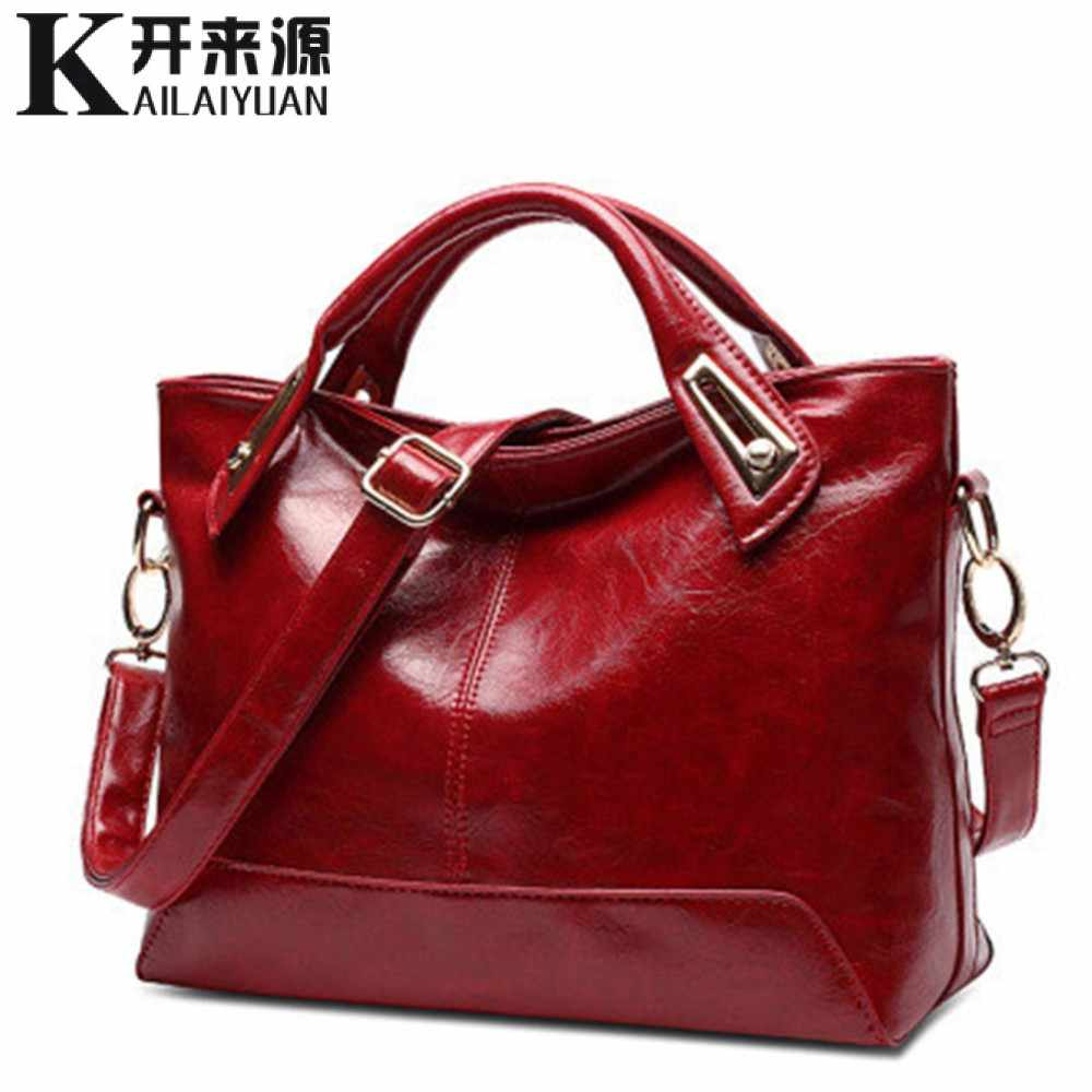 100% Kulit Asli Wanita Handbags 2019 New Cross-Section Portable Bahu Tas Motor Fashion Vintage Messenger