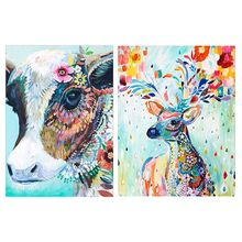 Cow Deer 5D Special Shaped Diamond Painting Embroidery Needlework Rhinestone Crystal Cross Craft Stitch Kit DIY