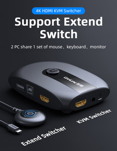 Image 2 - Unnlink 2 Ports HDMI KVM Switch with Extender 4K 1080P USB2.0 Sharing Monitor Printer Keyboard Mouse for 2 computers laptops ps4