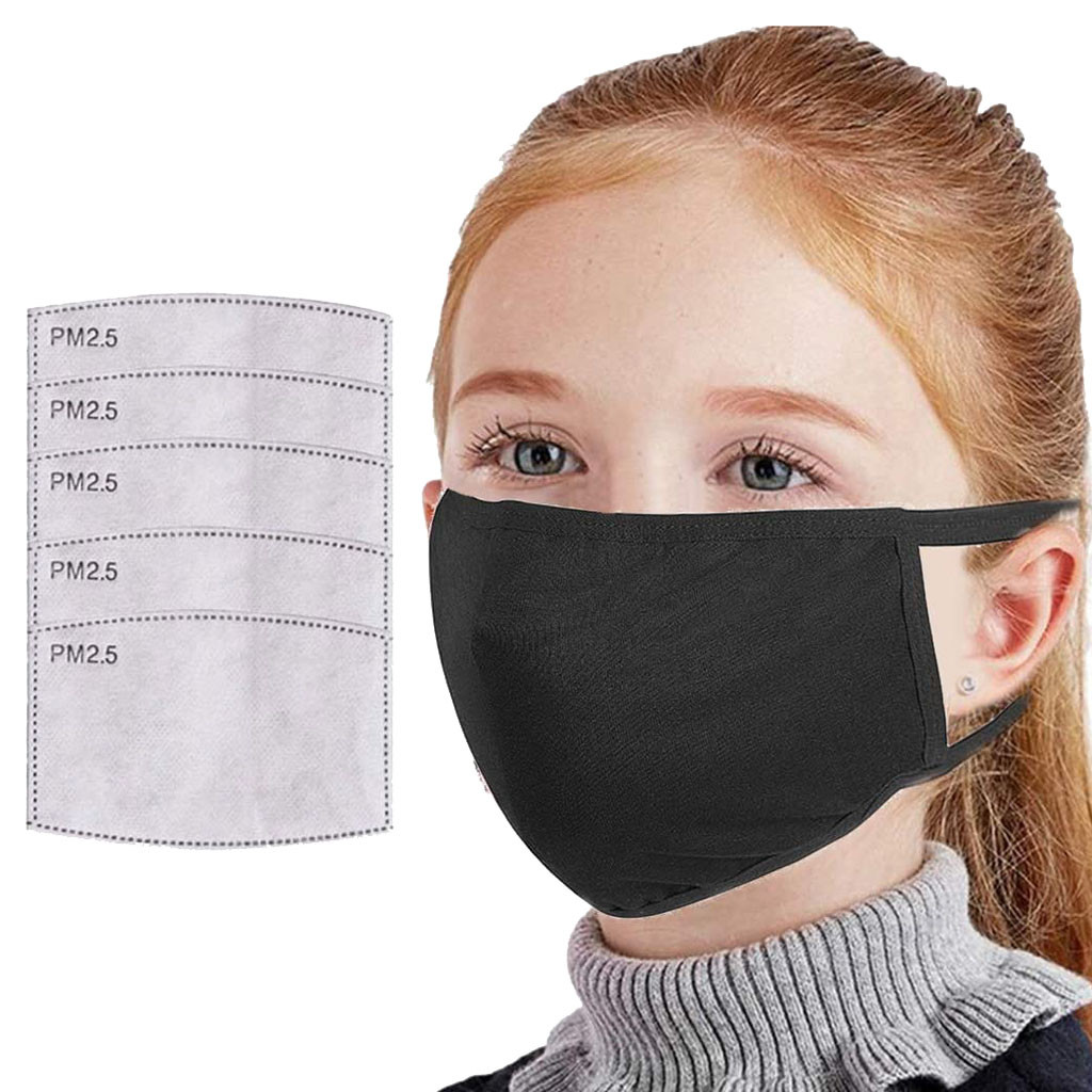 Kids Washable Reusable Breathable Mouth Face Masks Universal Dustproof Activated Carbon Filters Mouth Face Mask For Children