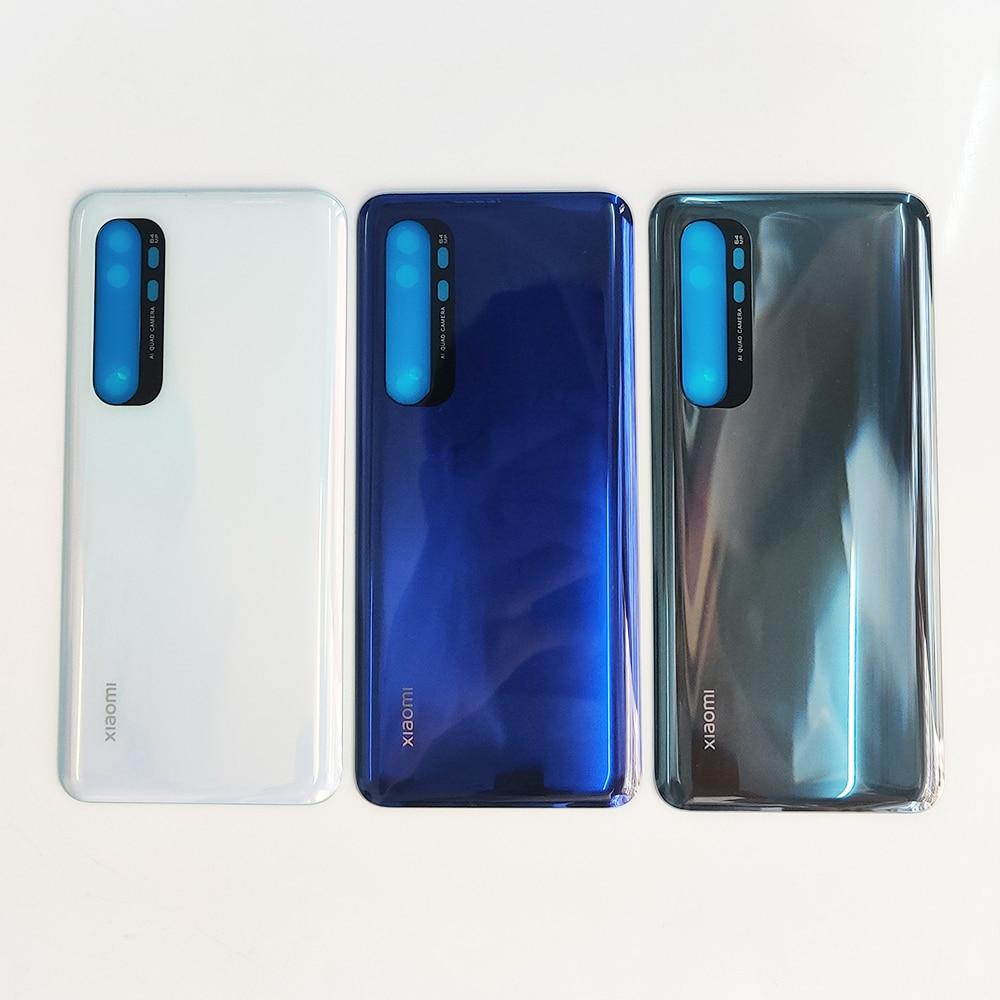 Оригинальная Задняя стеклянная крышка Note10 Lite для Xiaomi Mi Note 10 Lite, задняя крышка для замены жесткого аккумулятора, задняя крышка корпуса