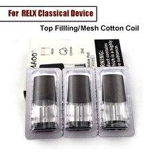 3pcs/box Top Filling Replacement Pod For Relx Mod Vape Device 2ml Mesh Cotton Coil Vape Cartridge Electronic Cigarette Atomizer