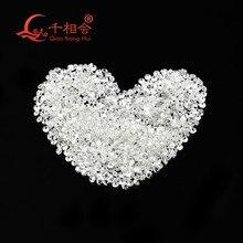 1CT per sacchetto DF colore bianco 0.9 millimetri a 2.9 millimetri di piccola dimensione sintetico moissanites rotonda forma sciolto pietra fatta da SIC
