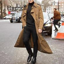 Men Overcoat Vintage Long Trench Coat Men new Jacket Coats Mens Business black C