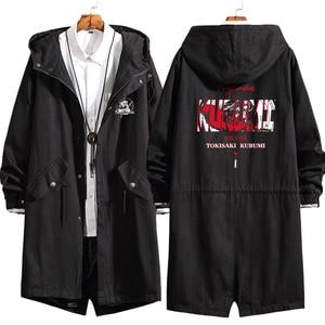 Image 3 - Anime DATE A LIVE Tokisaki Kurumi Cosplay Long Windbreaker Women Men Autumn Winter Warm Hooded Coat Zip Wind jacket outercoat