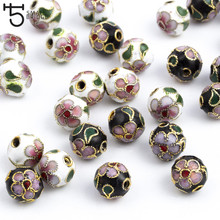 8/10/12mm Copper Enamel Beads charms for Jewelry Making diy accessories for woman Cloisonne Spacer Beads Wholesale M502(China)