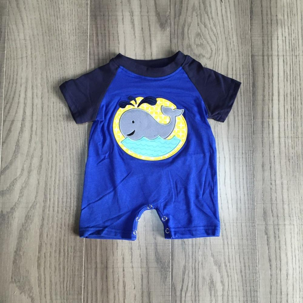 Baby Boy Clothes Infant Baby Romper Boys Whale Romper Baby Cotton Romper Wholesale