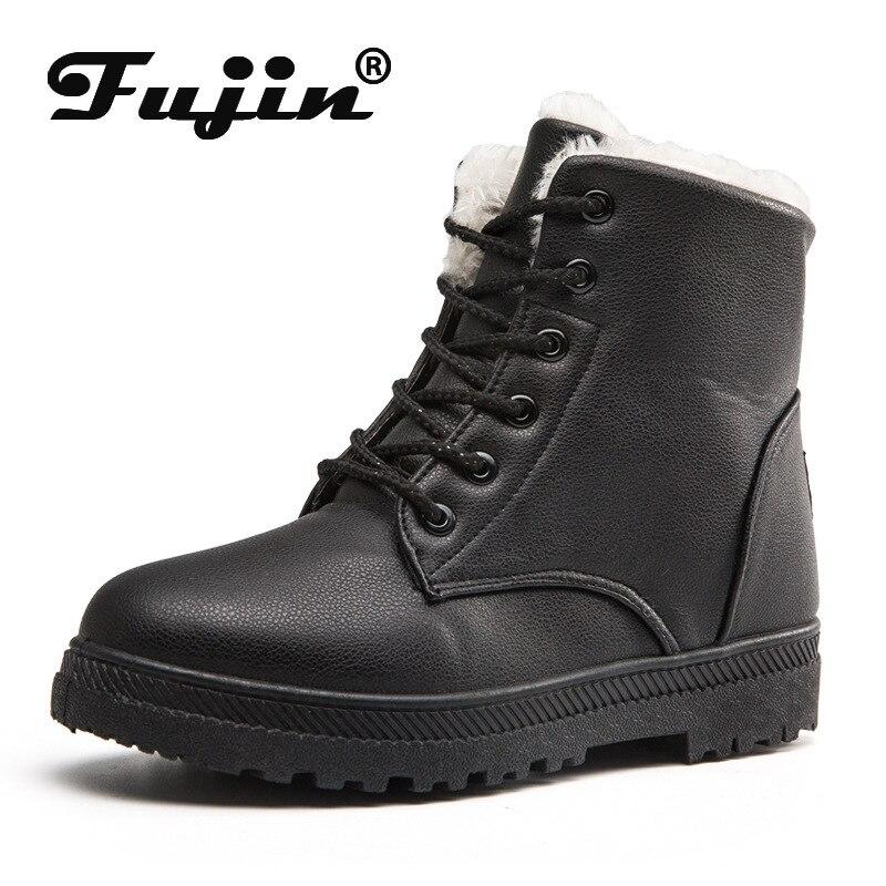 Snow-Boots Velvet Female Waterproof Large-Size Winter Women New Warm Cotton Fujin