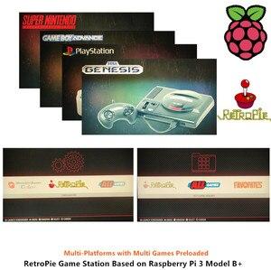 Image 3 - Raspberry PI 3 Model B + плюс аркадная консоль Retropie Full DIY Kit 128 ГБ 18000 + игры по индивидуальному заказу Retropie Emulation Station ES