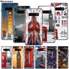 Flag UK London Big Ben Case For Samsung Galaxy S20 S10 5G S8 S9 Plus S10e S7 Not