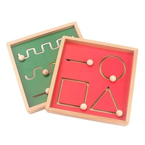 montessori escrita aids traco geometria linha formas