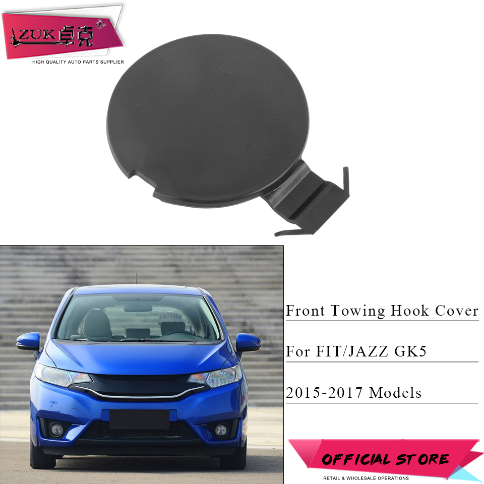 ZUK Front Bumper Towing Hauling Cover Case Cap Housing For HONDA FIT JAZZ GK5 2015 2016 2017 2018 71104-T5H-H00 71104-T5H-H50