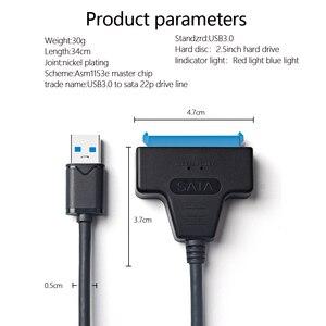 """Image 5 - USB 3.0 SATA câble SATA vers USB adaptateur pour 2.5 """"SSD HDD boîtier de disque dur externe externe"""