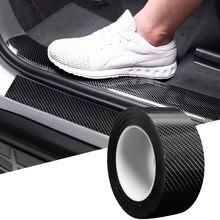 5d fibra de carbono adesivo protetor do peitoril da porta do carro pára protetor filme envoltório automático para toyota corolla e150 150 camry 40 prado 120
