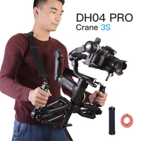 DH04 PRO 3 axis Gimbal stabilizer Spring Dual Handle 4.5kg bear with strap for RONIN S Ronin SC Crane 3S&LAB CRANE 3 Moza Air 2