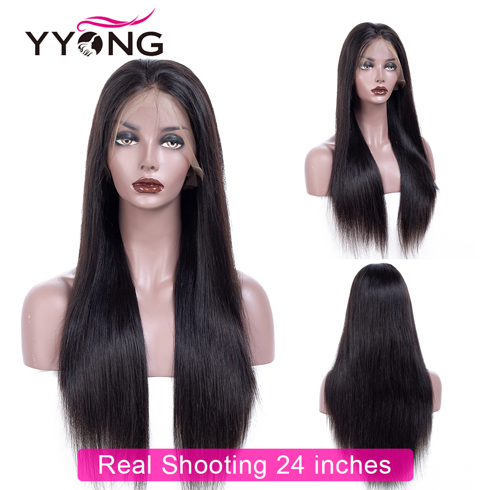 Yyong Hair Glueless Full Lace  Wigs With Baby Hair  Straight  Full Lace Wigs Low Ratio 4