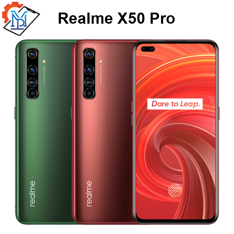 New Original Realme X50 Pro 5G Moblie Phone 5.44 Super Amoled 8G+128G Snapdragon 865 Android 10 65W Superdart Charge Smartphone image