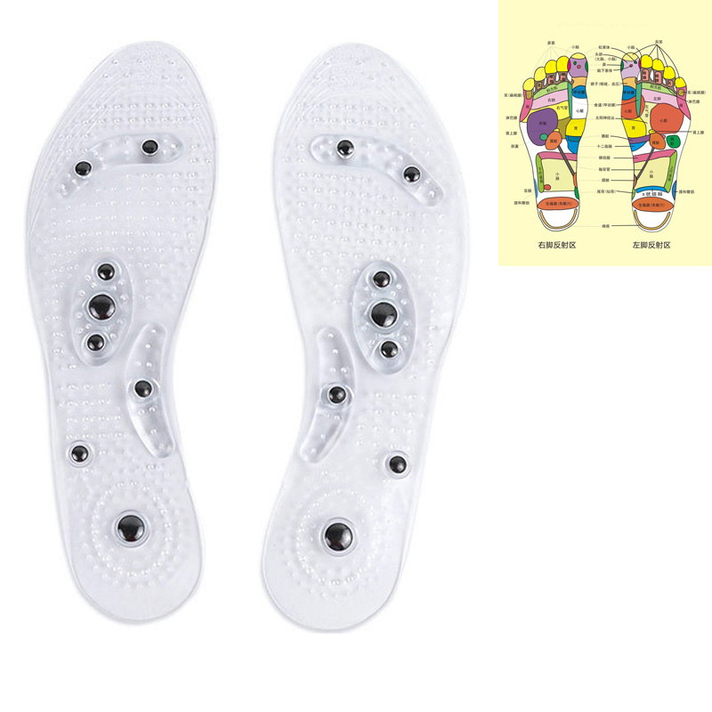 1Pair Health Shoe Gel Insoles Feet Magnetic Therapy Health Care For Men Comfort Pads Foot Care Relaxation Massage Gifts