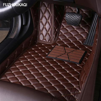 Leather car floor mats for KIA K2 K3 K4 K5 K7 Borrego KX3 Cerato Sportage Optima Maxima carnival rio ceed carens Sorento Custom image