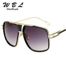 WarBLade18K Gold Plated Square Men Sunglasses Women Couple F