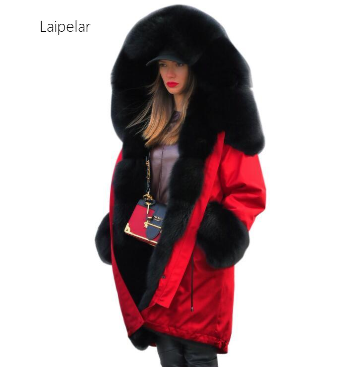 2020 New Women's  Fur Collar Outerwear Winter Women Thick Warm Hooded Parka Mujer Cotton Padded Coat Long Paragraph Plus Size