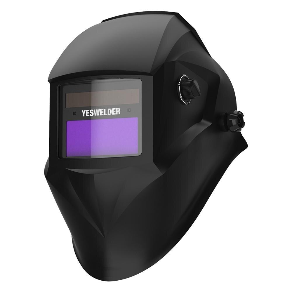 YESWELDER Auto Darkening Welding Helmet MIG MMA Electric Welding Mask With 2 Arc Sensor Solar EH-1000 EF9035G