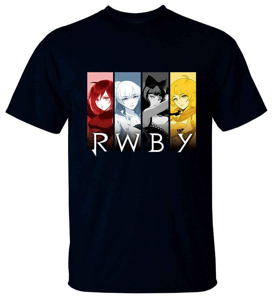 Аниме: RWBY V1 Monty Oum серийный ТВ Футболка (черный) все размеры Print футболка с принтом Мужская футболка хараюку