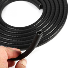 U Pillar Lock Car Window Door Trim Rubber With metal Edge Seal Strip weatherstrip Noise Insulation 4.9