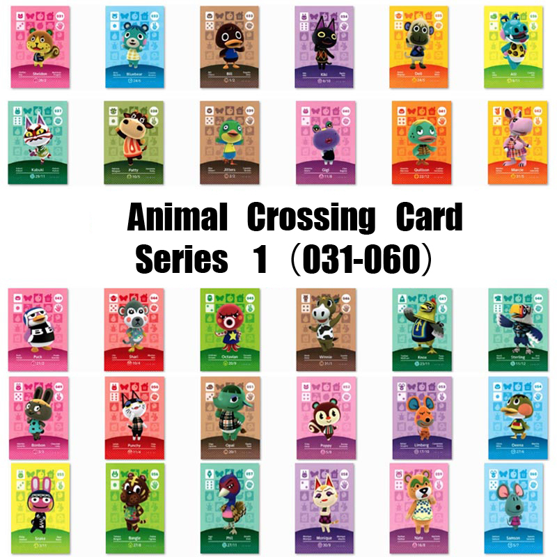 Amiibo Card Animal Crossing Card Amiibo Card Work For Ns Games Series 1 (031 To 060) image