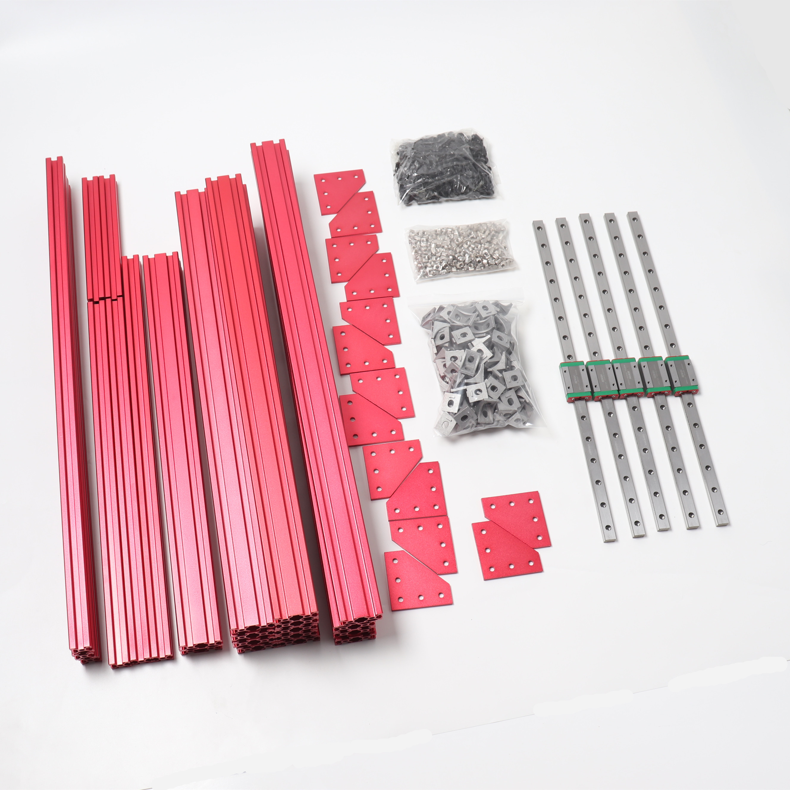 BLV MGN12 Cube 3d Printer Extrusions Frame Kit With Genuine Hiwin MGN12H 400mm Linear Rails