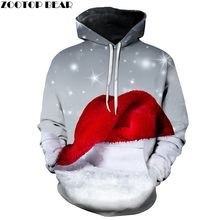 ZOOTOP BEAR Brand 3D Print Casual Fashion Hoodies Christmas Sweatshirts Sport Hoodies Men 2019 Red Riding Hood Dropshopping(China)