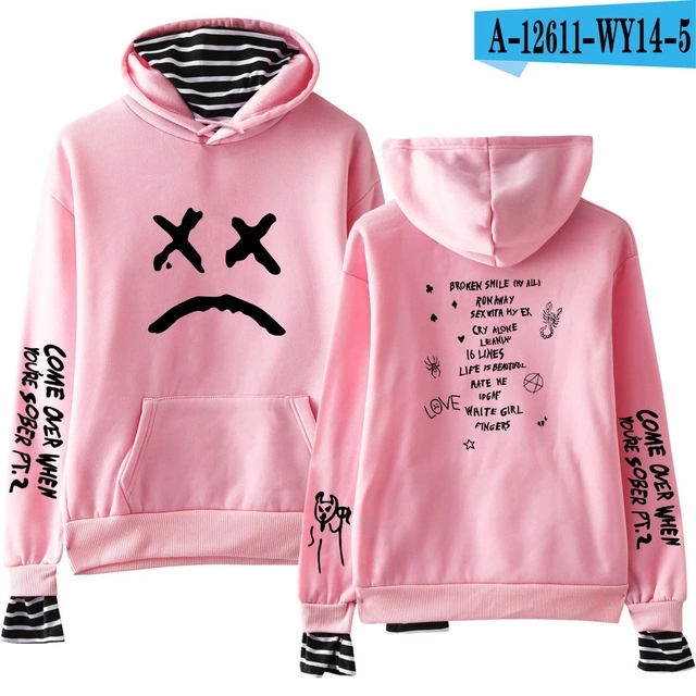 qianchuangyuan Unisex Lil Peep Hellboy Felpa con Cappuccio Manica Lunga Casual Pullover Hoodie Uomo Donna Inverno Stampata Giacca