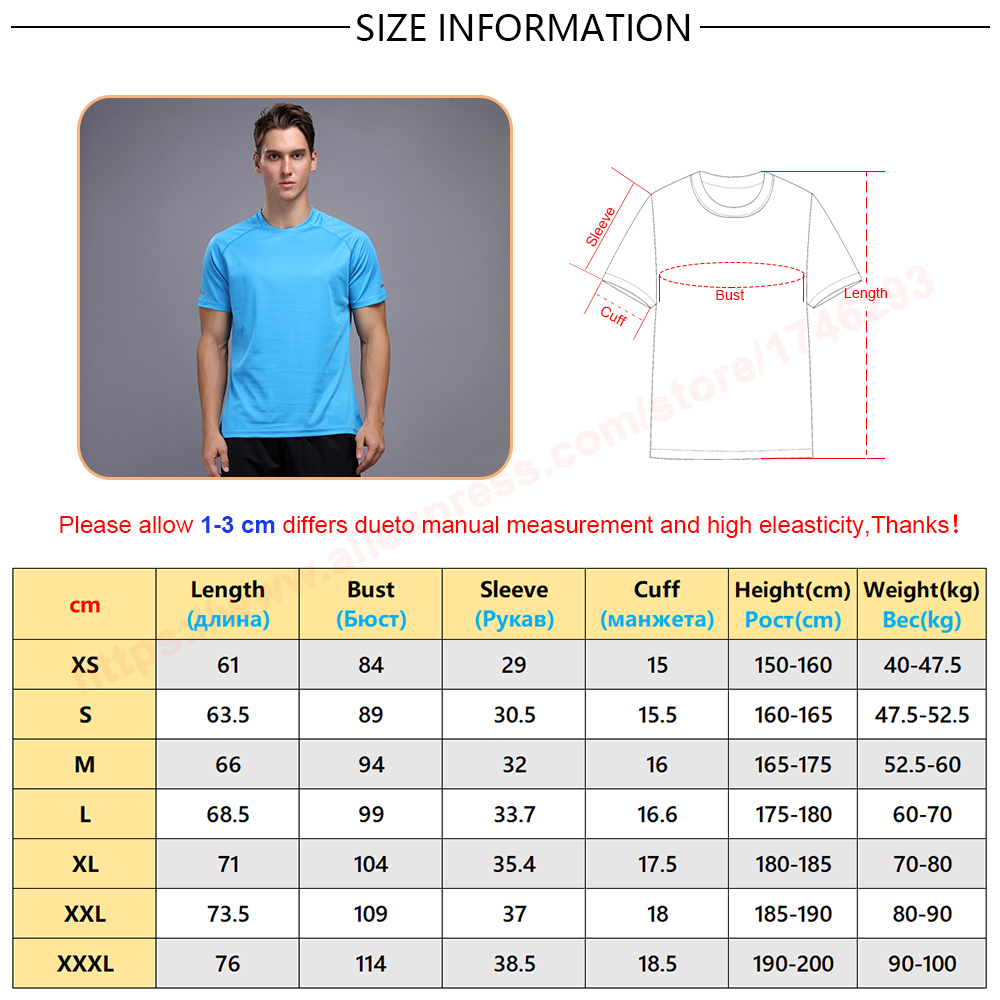 Hot DealsTraining Tshirt Soccer-Jersey Short-Sleeve Quick-Dry Sports Breathable New Men Tees Solid