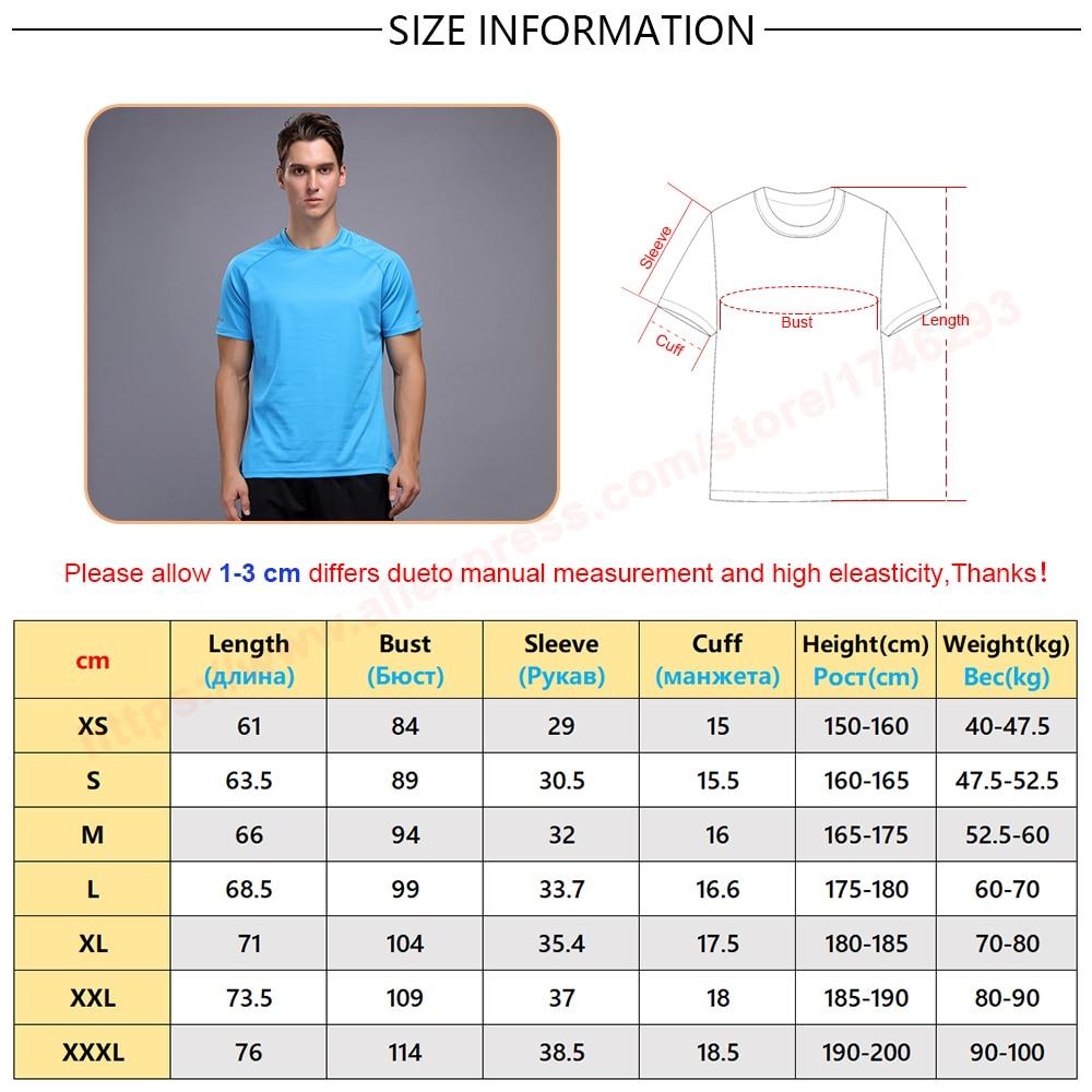 running - Breathable Short Sleeve Men Running Fitness Tshirt Quick Dry Soccer Jersey Solid Sports Tees New Training Tshirt 2019