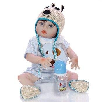 48cm Full Body Silicone Reborn Girl Baby Doll Toys Lifelike boy Baby Reborn Doll Child Birthday Christmas gift bebes reborn