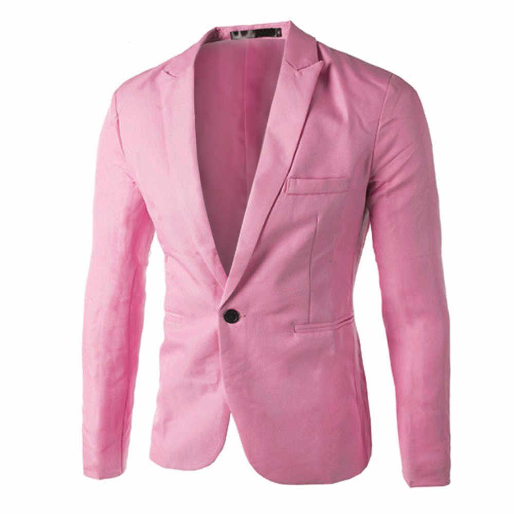 夏ブレザー男性2020ブレザーmasculinoメンズファッションフォーマルなビジネスブレザー1ボタンスリムフィットジャケットの男性のスーツブレザー服