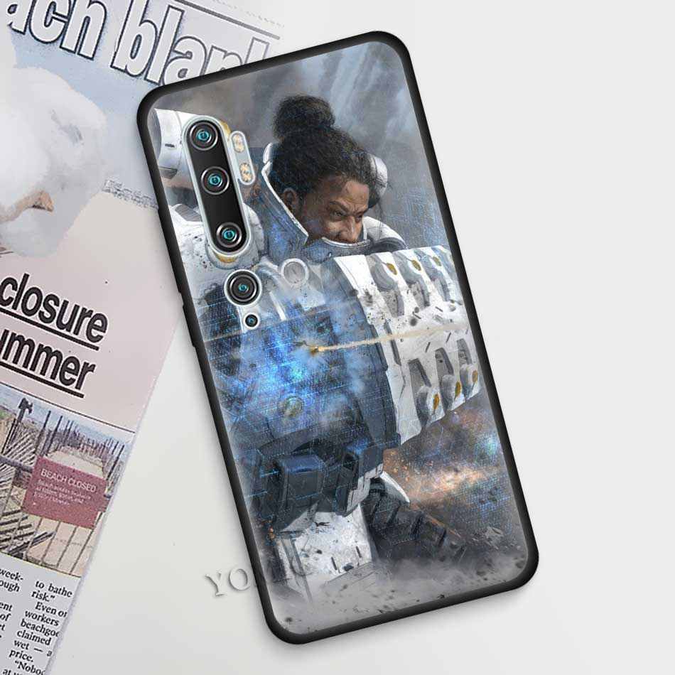Apex Legends Case For Xiaomi Mi Note 10 9 SE 9T CC9 Pro 5G A3 A2 8 Lite Poco X2 Black Silicone Phone Cover Shell