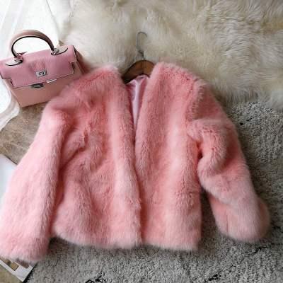 2020 New Style High-end Fashion Women Faux Fur Coat S111